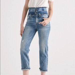 Lucky Brand Remade Lucky Pins Stacked Waist Jeans